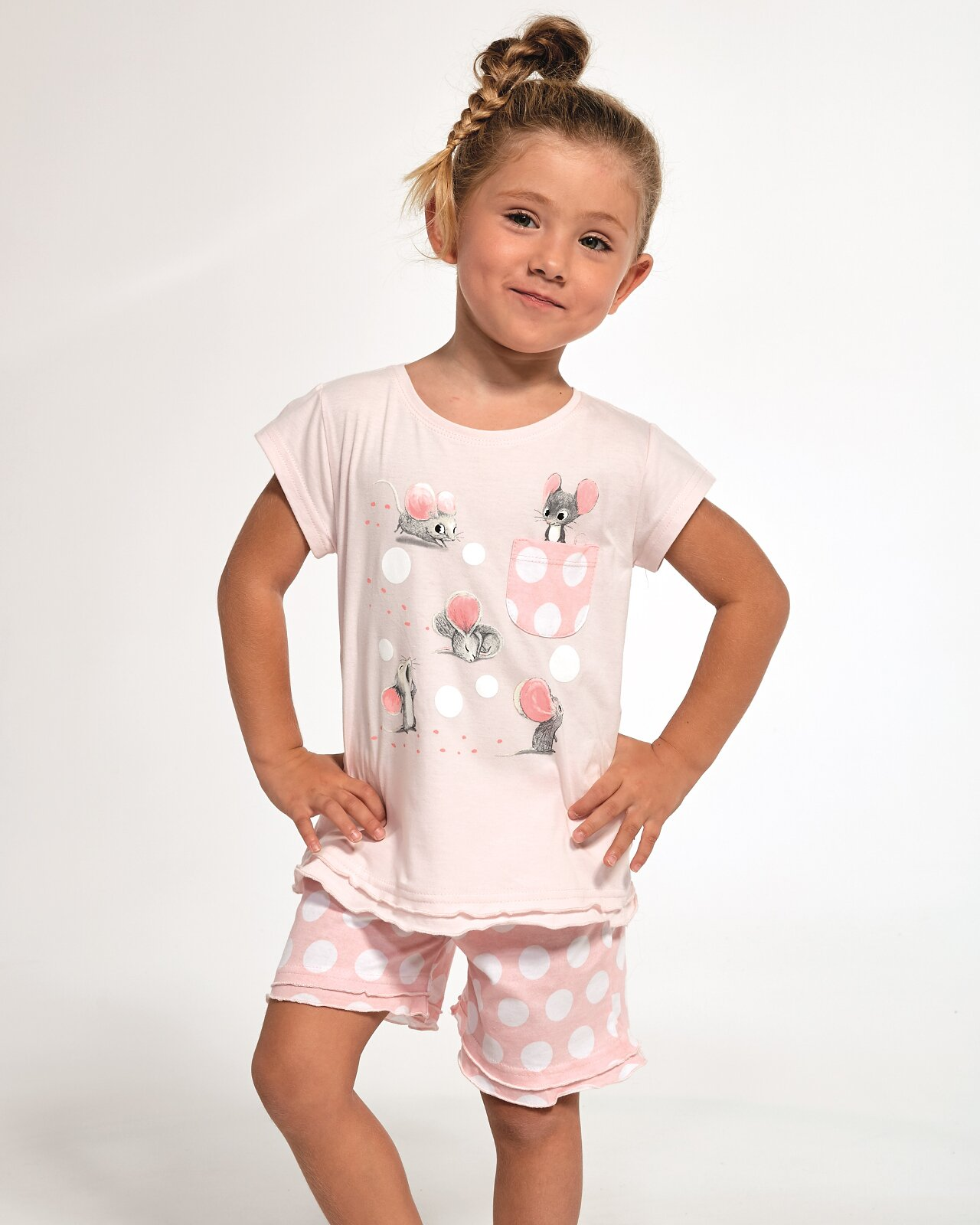 Піжама Cornette Kids Girl 359/70 Mouse kr/r 86-128, Рожевий, 110-116