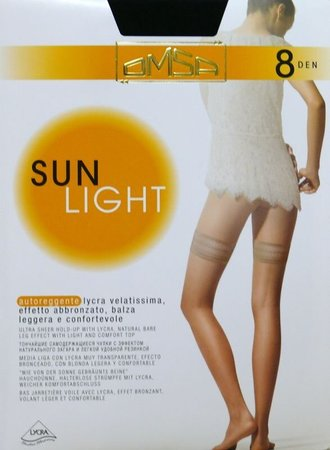Панчохи Omsa Sun Light 8 den, beige naturel (беж), 2-S